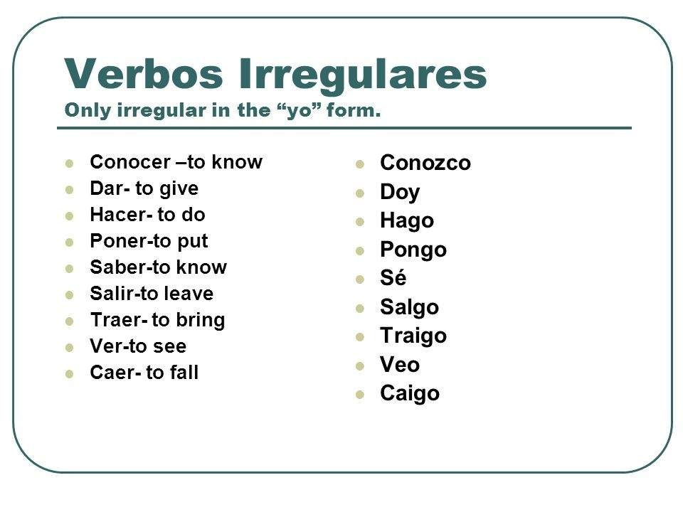 ... Of Verbs With Spelling Changes & Irregular Verbs from dean dundas